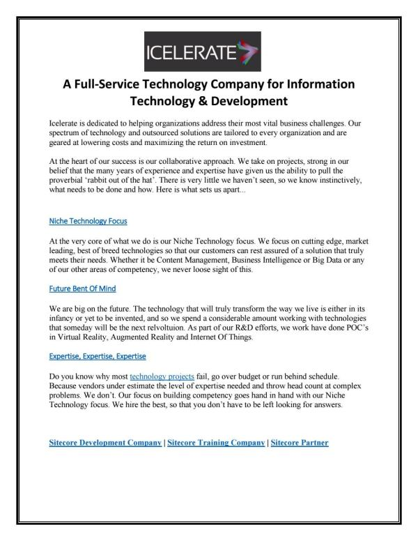 A Full-Service Technology Company for Information ...