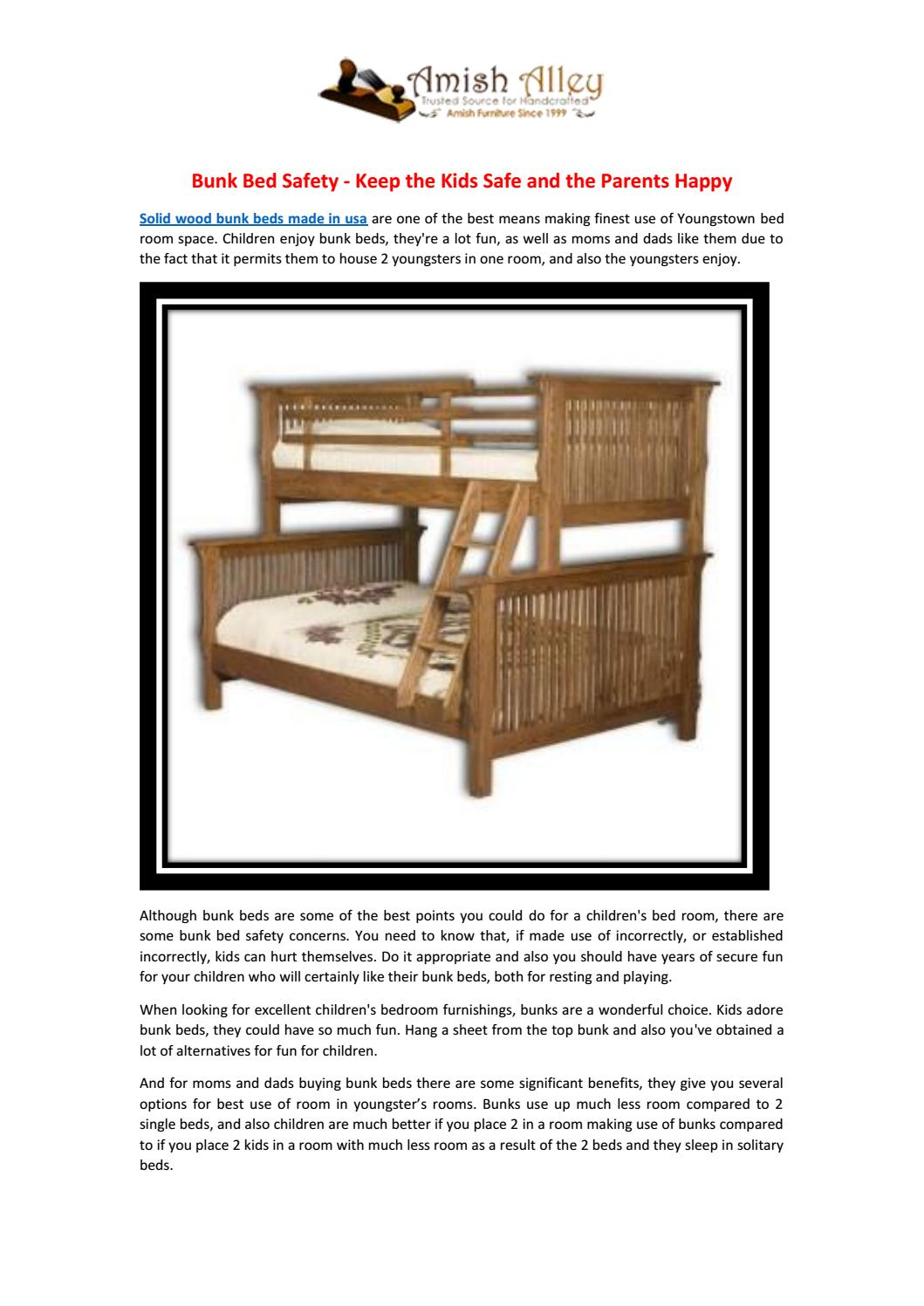 Bunk Bed Safety Keep The Kids Safe And The Parents Happy By Amish Alley Issuu