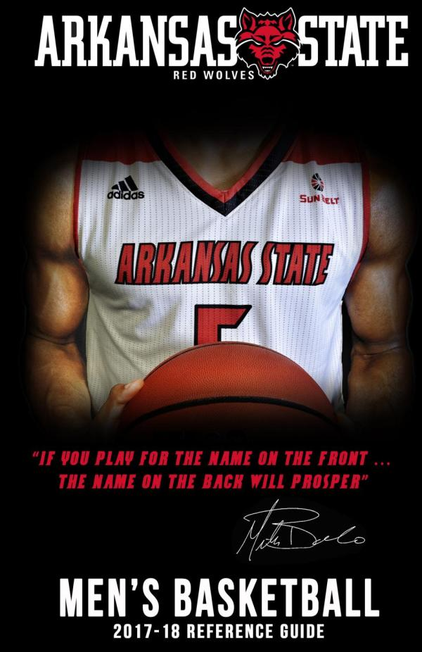 2017-18 A-State Men's Basketball Media Guide by Arkansas ...