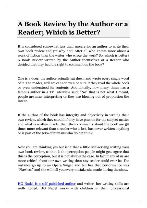 how to write a book review # 28