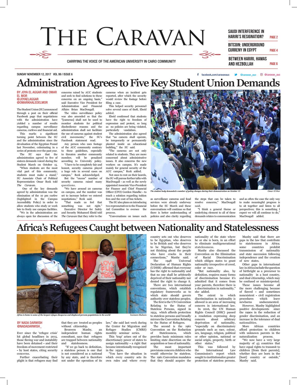 Fall 2017 Issue 6 November 12 By The Caravan Issuu