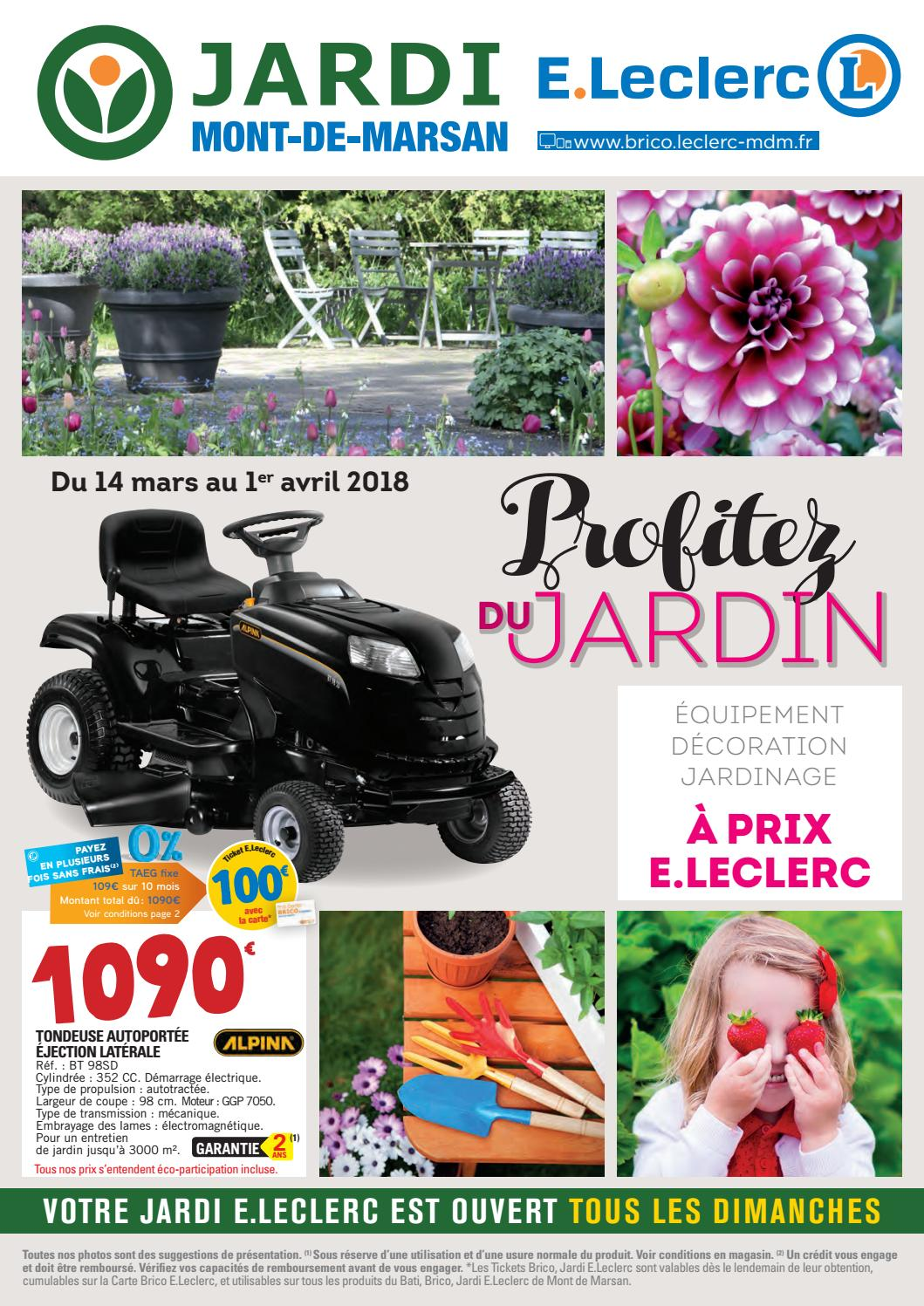 catalogue jardin jardi e leclerc by