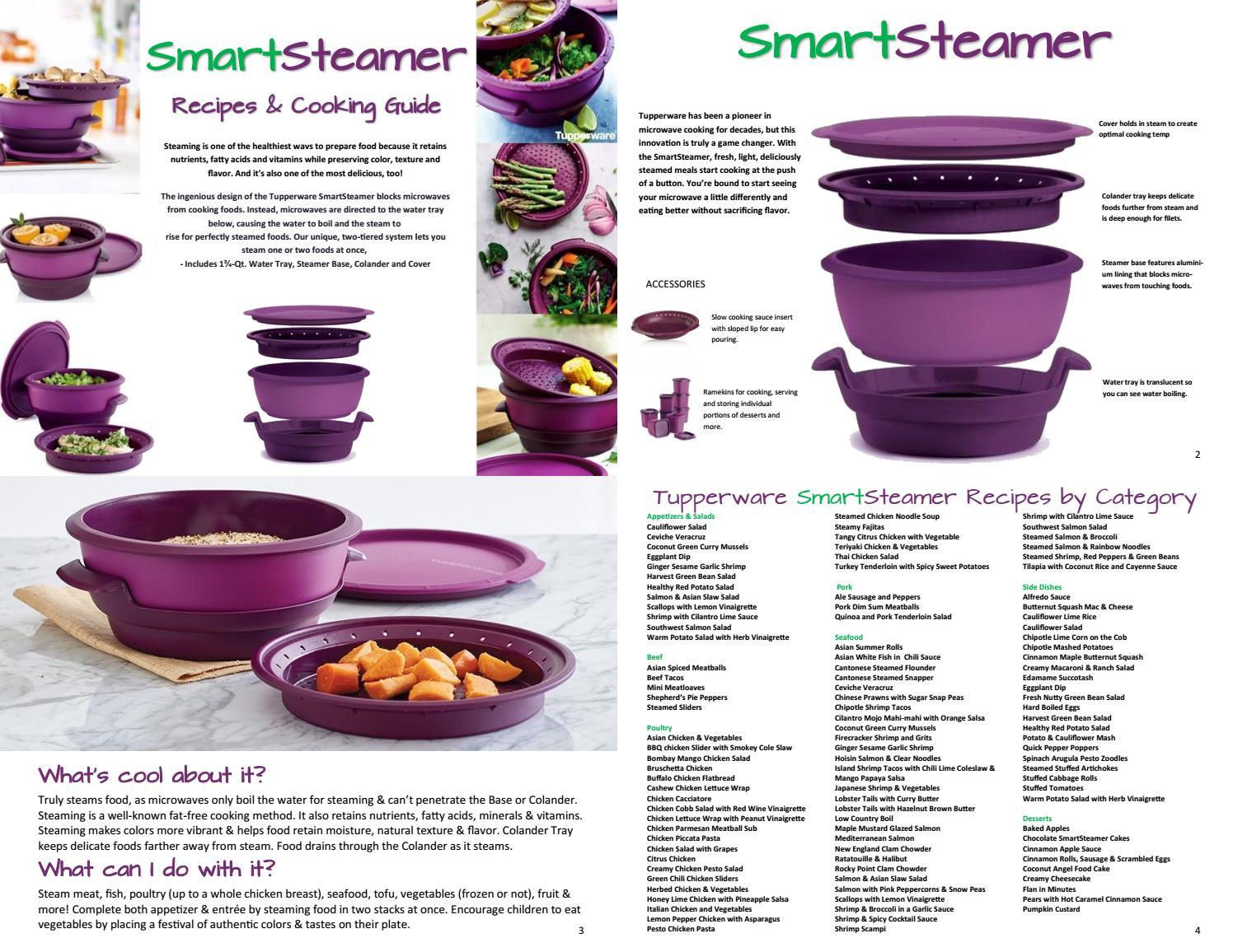 tupperware smartsteamer recipes and
