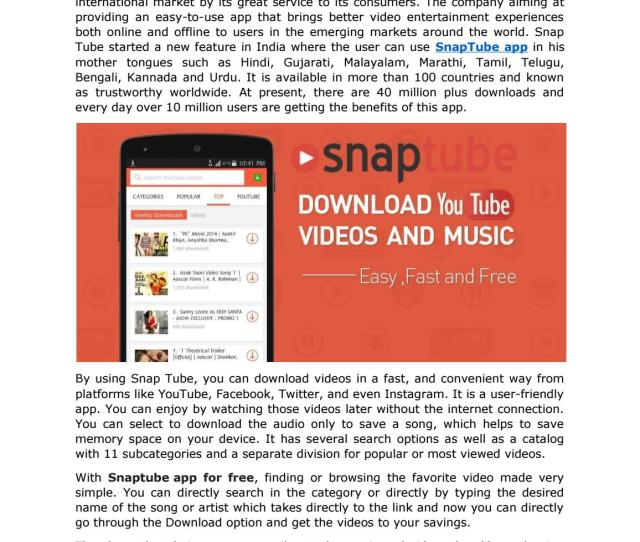 Want To Download Videos In Your Regional Language Install Snaptube By Appsdownload Issuu
