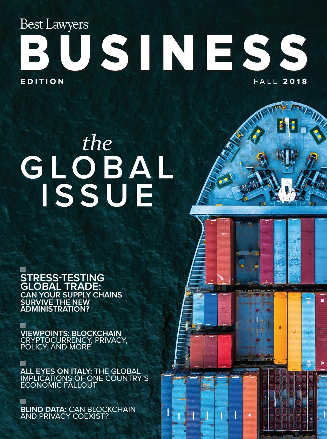 Best Lawyers Fall Business Edition 2018 By Best Lawyers Issuu