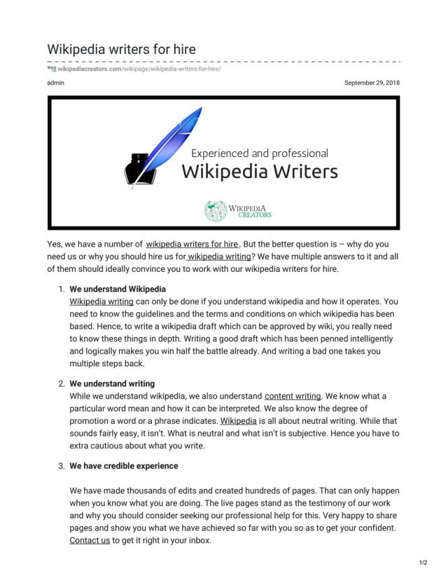 wikipedia writing services by Wikipedia Creators - issuu
