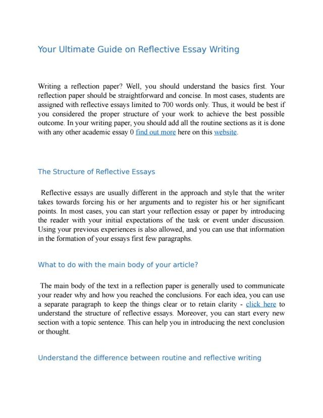 Your Ultimate Guide on Reflective Essay Writing by Reflection
