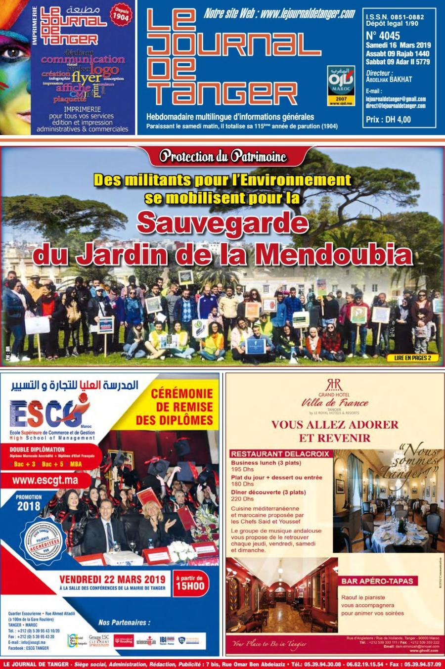 Le Journal De Tanger 16 Mars 2019 By Le Journal De Tanger