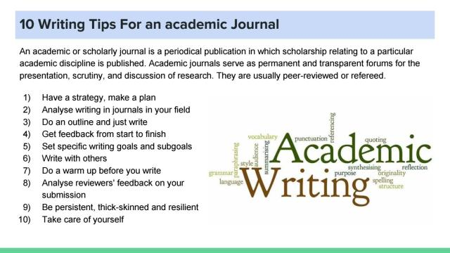 22 Writing Tips For an academic Journal by Barry Allen - issuu