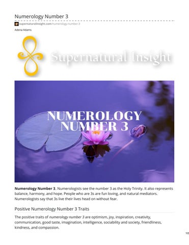 number 3 numerology # 65