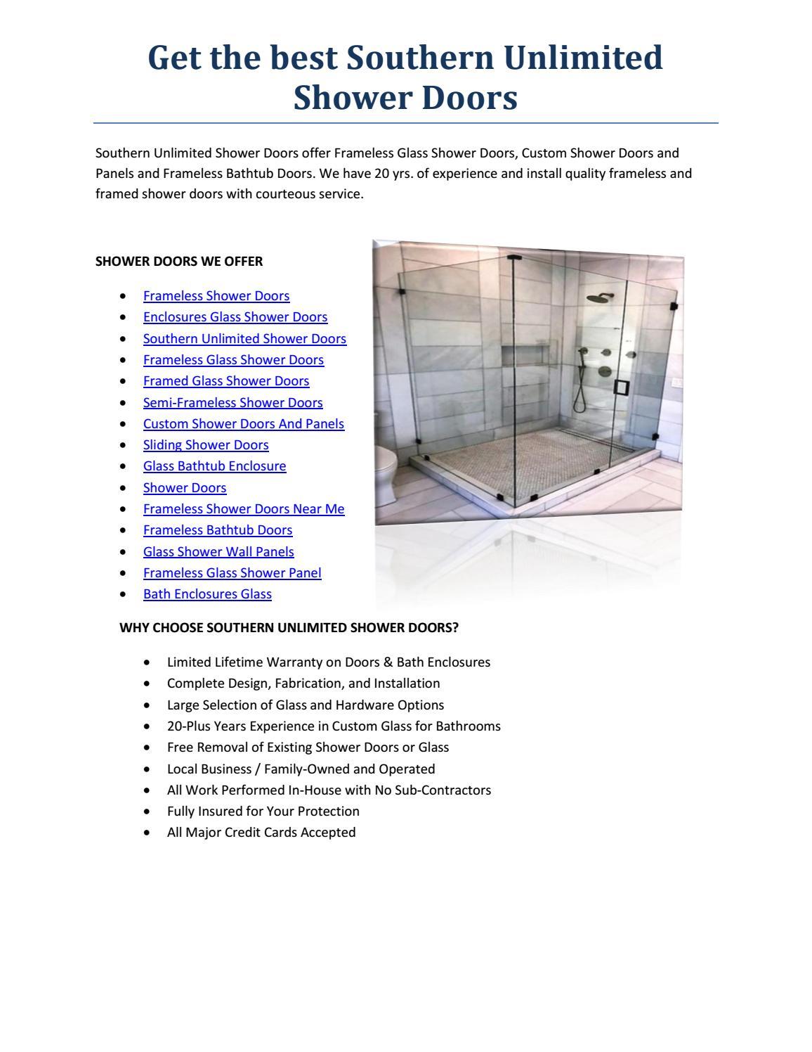 Semi Frameless Shower Doors By Next Level Telemed Issuu