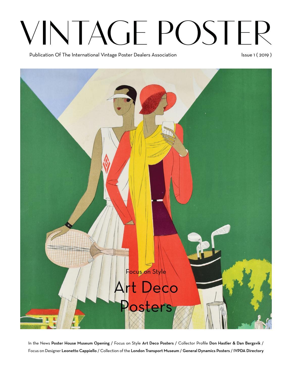 vintage poster ivpda publication issue
