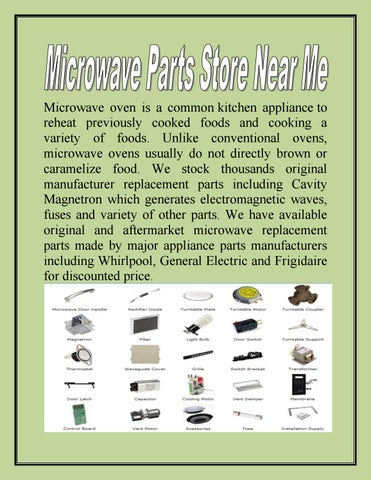 microwave parts store near me by