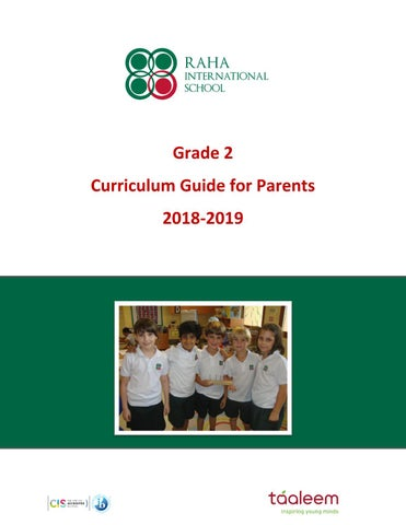 Grade 2 Curriculum Guide 2018 2019 By Raha Interntional
