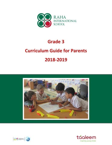 Grade 3 Curriculum Guide 2018 2019 By Raha Interntional
