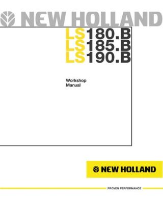 new holland ls185b skid steer loader service repair manual