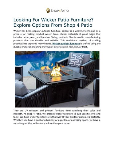 looking for wicker patio furniture