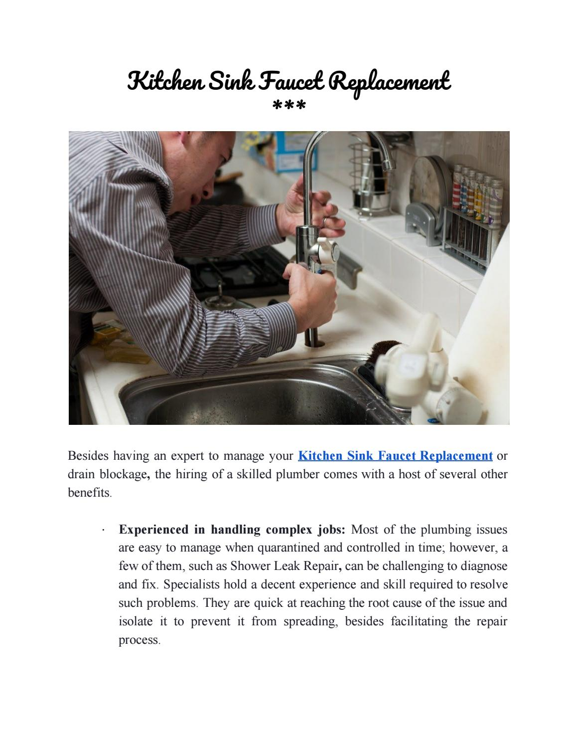 kitchen sink faucet replacement by