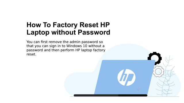 How to Factory Reset HP Laptop without Password by Passcode