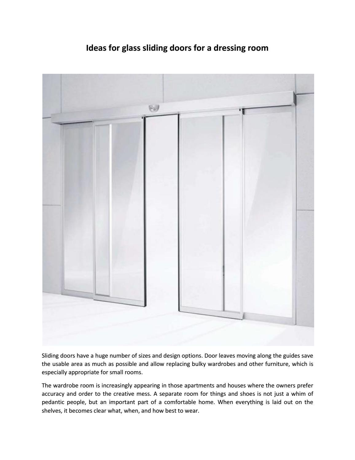 glass sliding doors for a dressing room