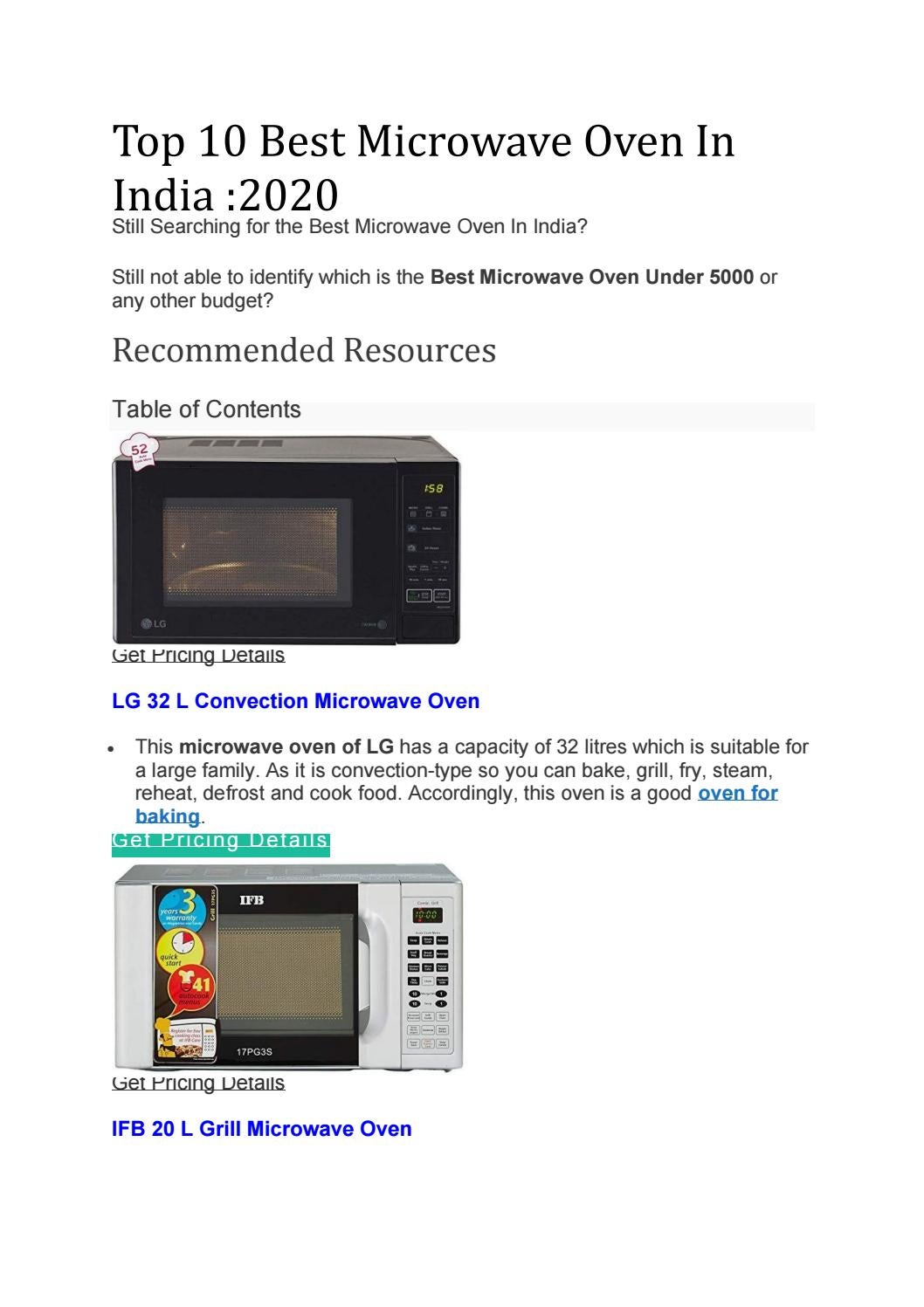 best microwave oven in india by best100