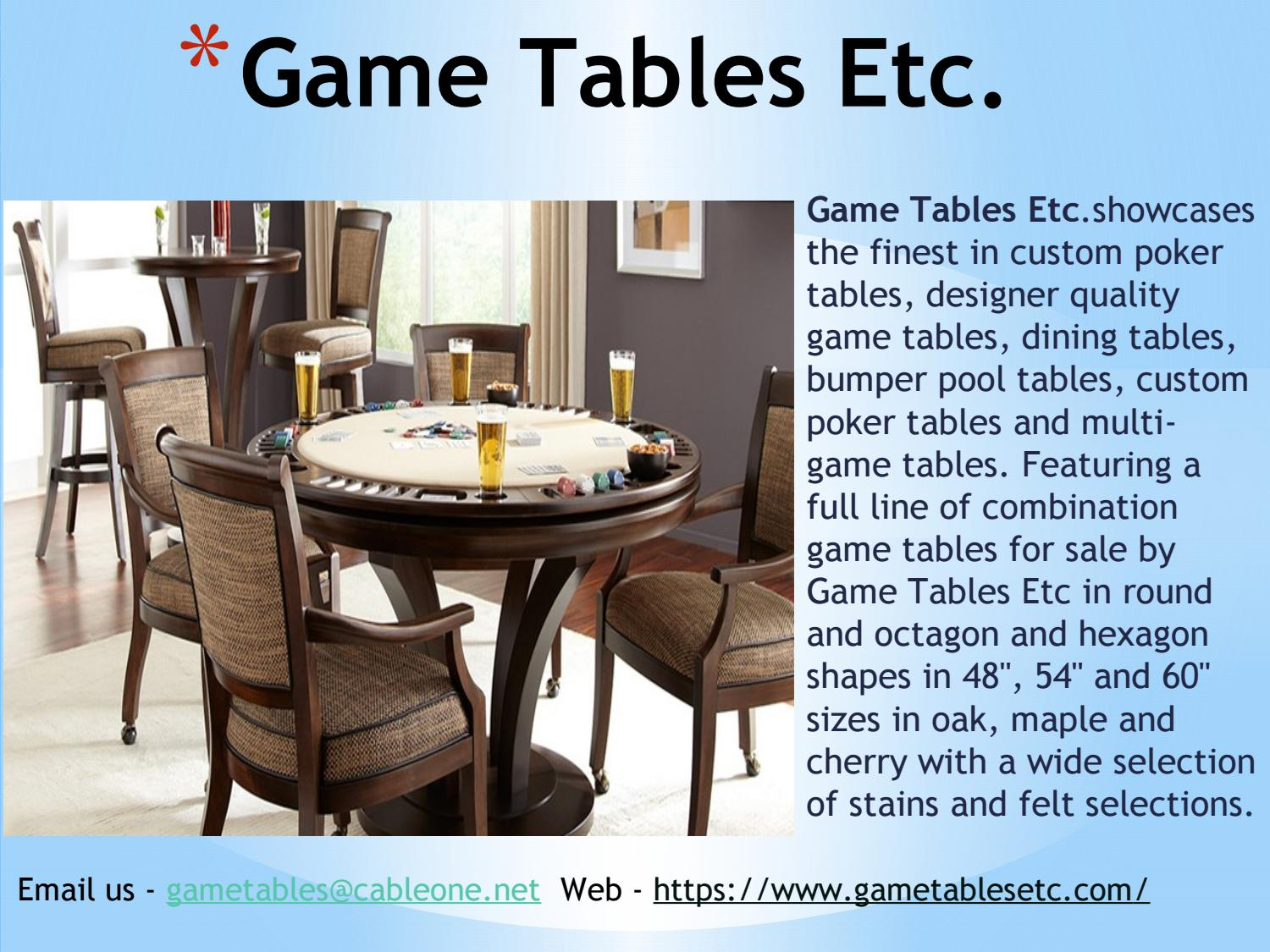 Buy World Class Game Tables In California By Gametablesetc Issuu