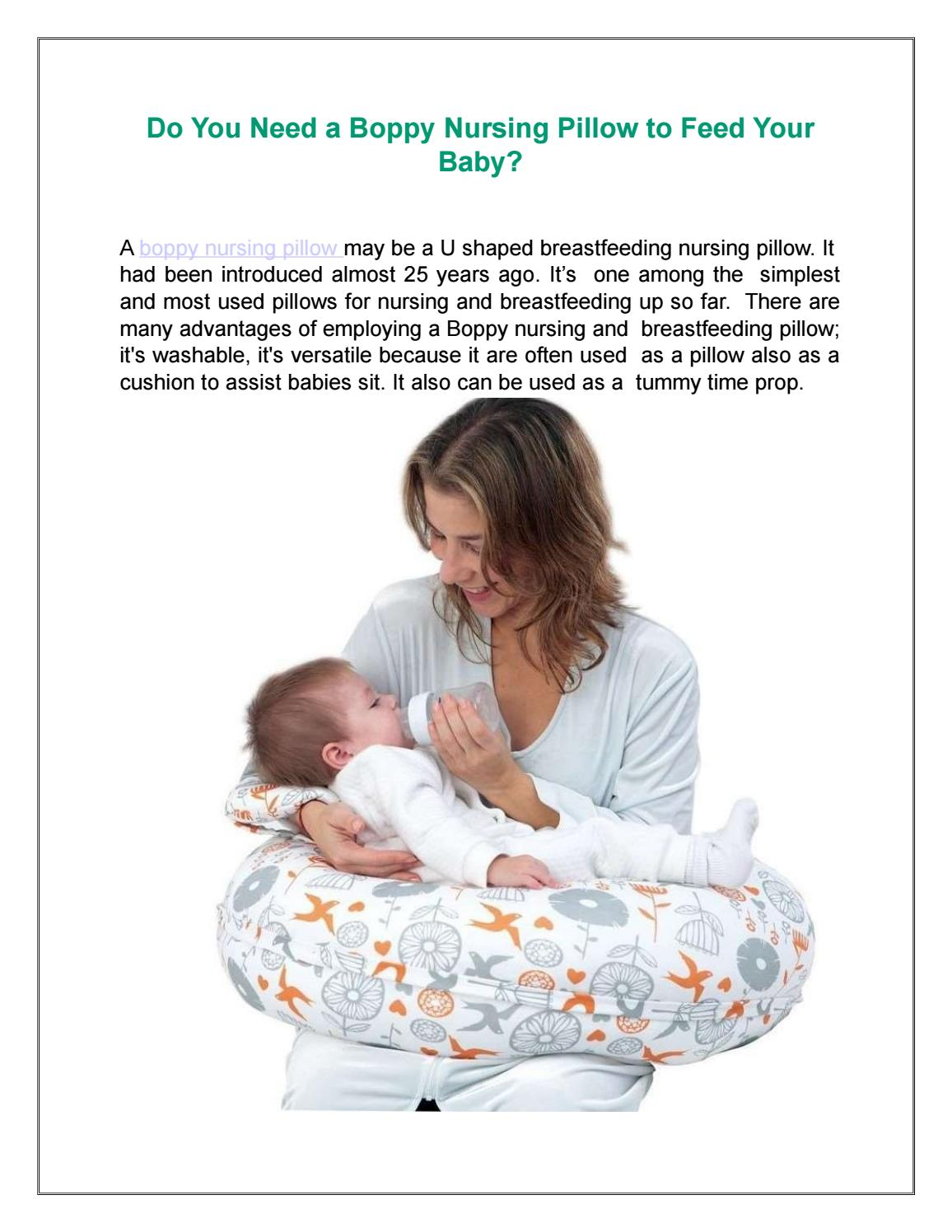 boppy nursing pillow to feed your baby