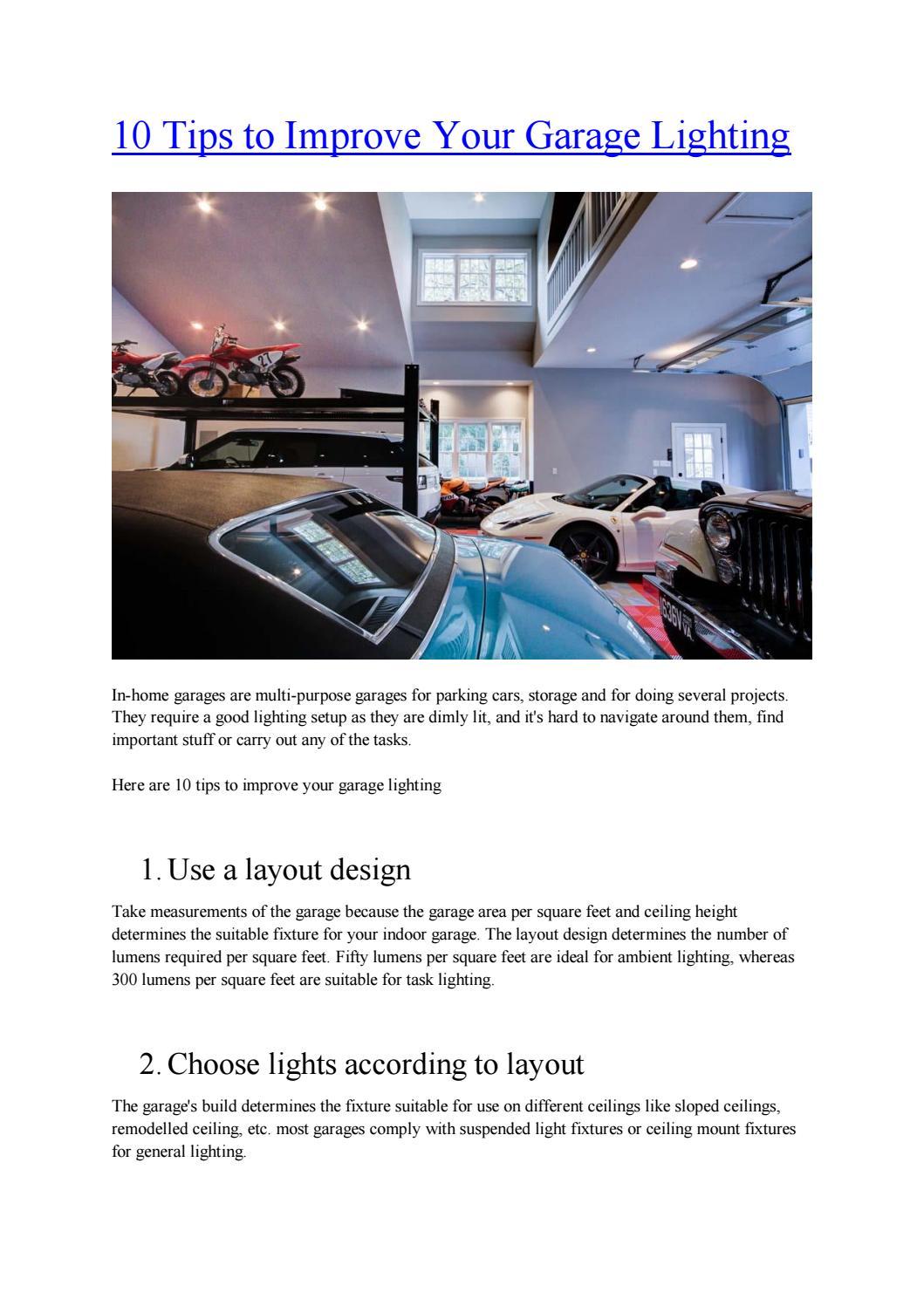 garage lighting by syedahsonshah issuu