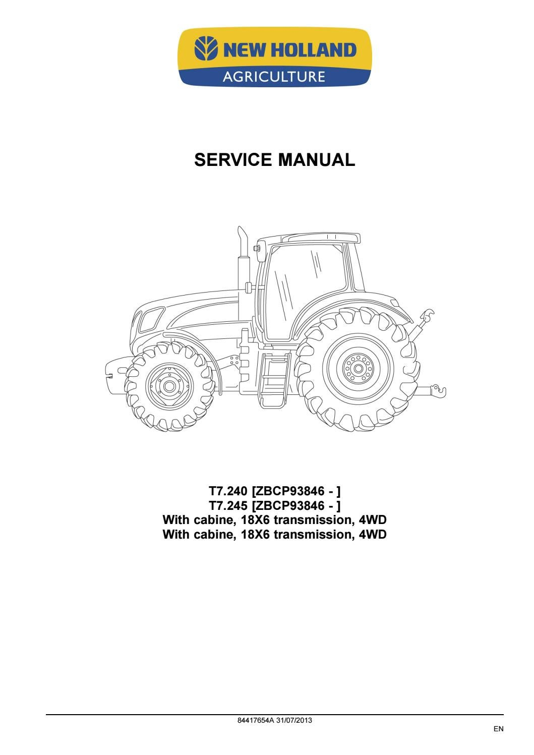 new holland t7 240 t7 245 tractor