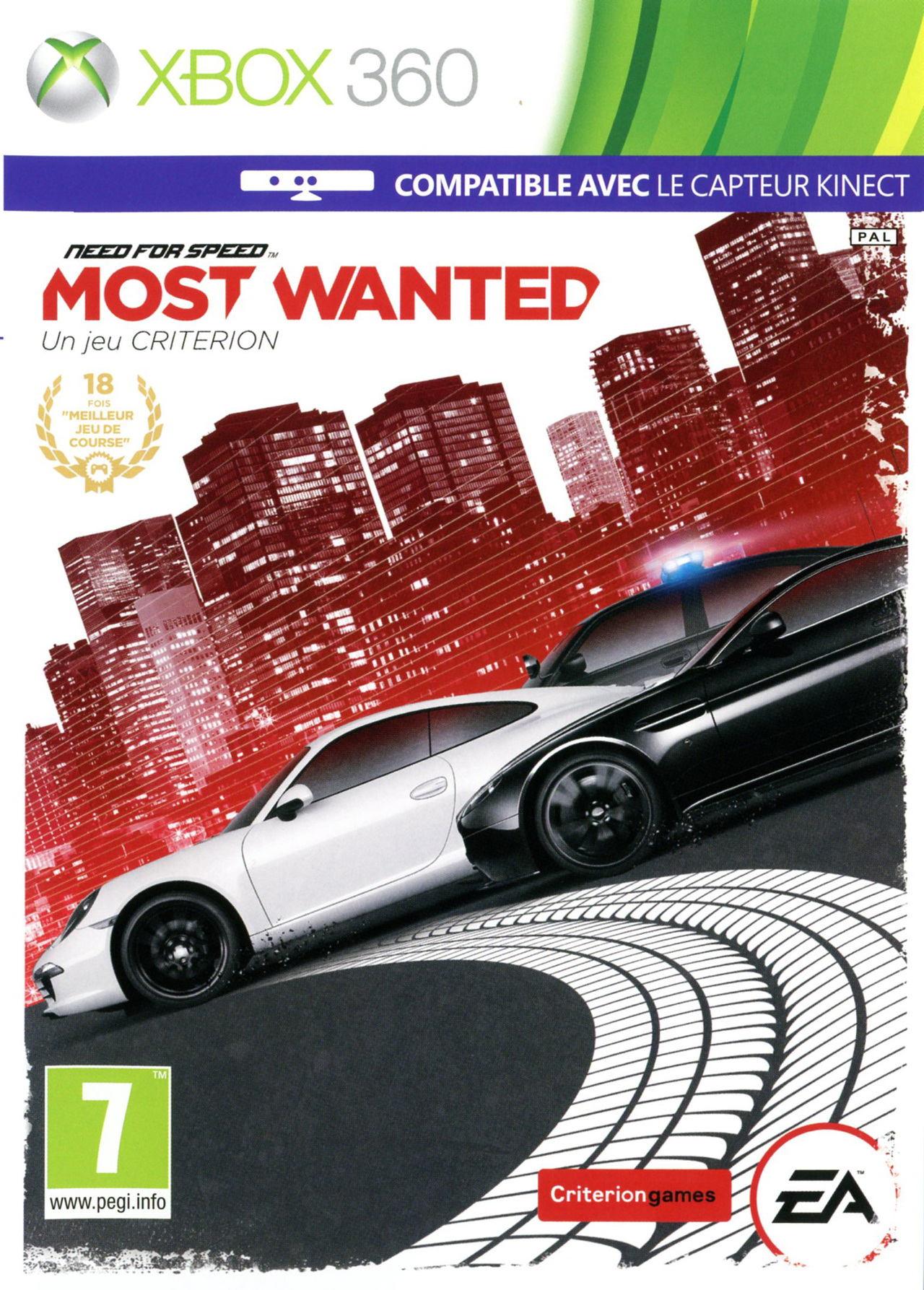 Jaquette/packshot NFS Most Wanted 2012 Xbox 360