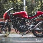 Ducati 750 Ss Modern Cafe Racer Build Story Kaspeed Custom Motorcycles Cafe Racer Scrambler Brat