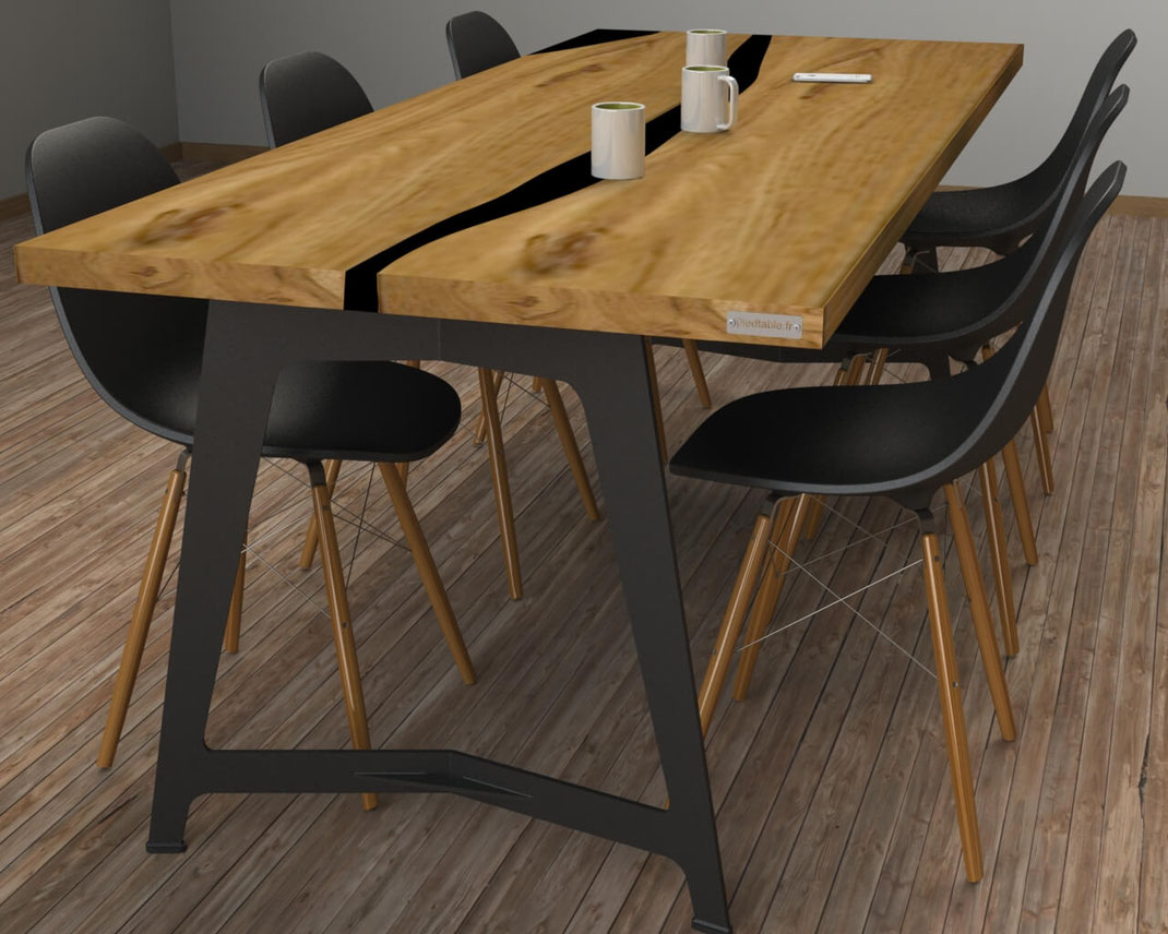 pieds de table sur mesure en metal