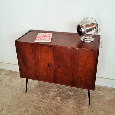 meuble hifi scandinave palissandre