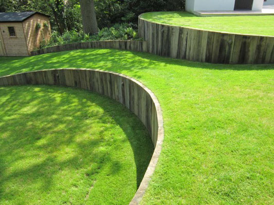 Services and Diy tips to Terrace and Level a sloping ... on Garden Ideas For Sloping Gardens id=83527