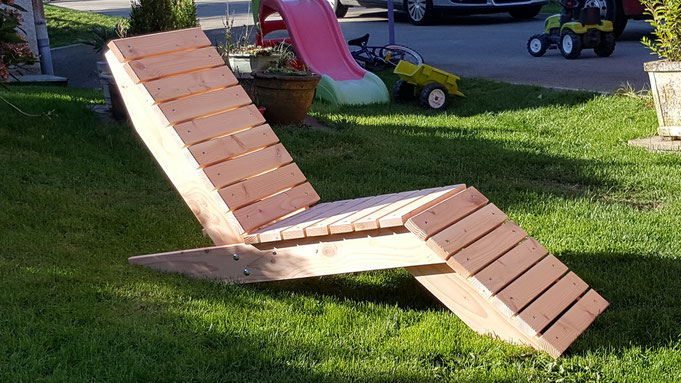 chaise longue contemporaine table de