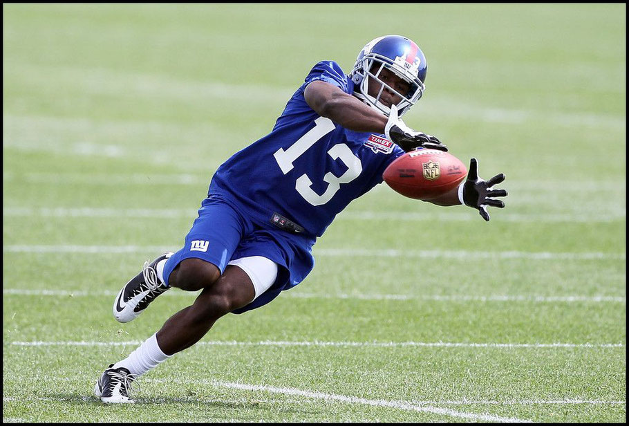 Adeyemi at Giants minicamp - Jim McIsaac (Getty Images), May 11, 2012