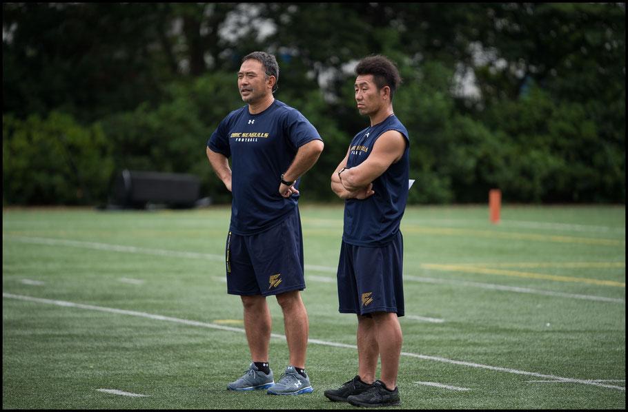 Naoki Kosho (right) who took over as HC from Makoto Ohashi (left) has one career tackle more than Jackson— John Gunning, Inside Sport: Japan, Aug 20, 2017