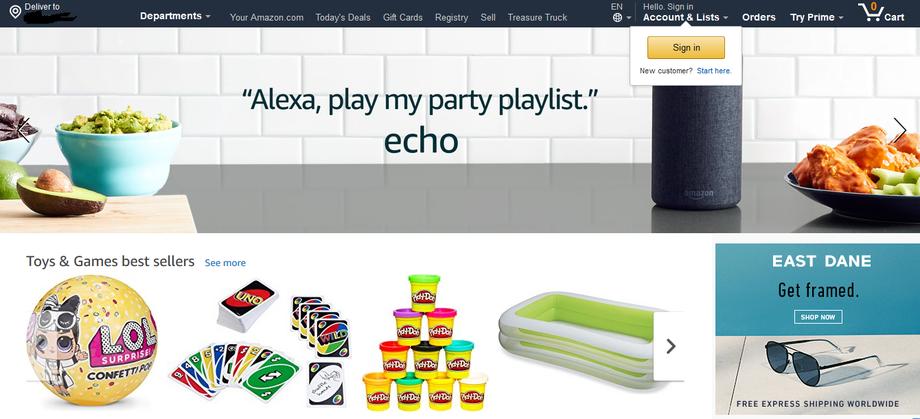 Amazon 亞馬遜 - 購物網