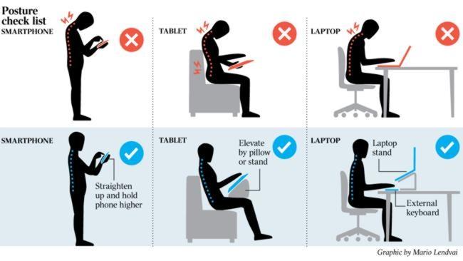 La Bonne Posture Devant Ordi Tablette Tlphone
