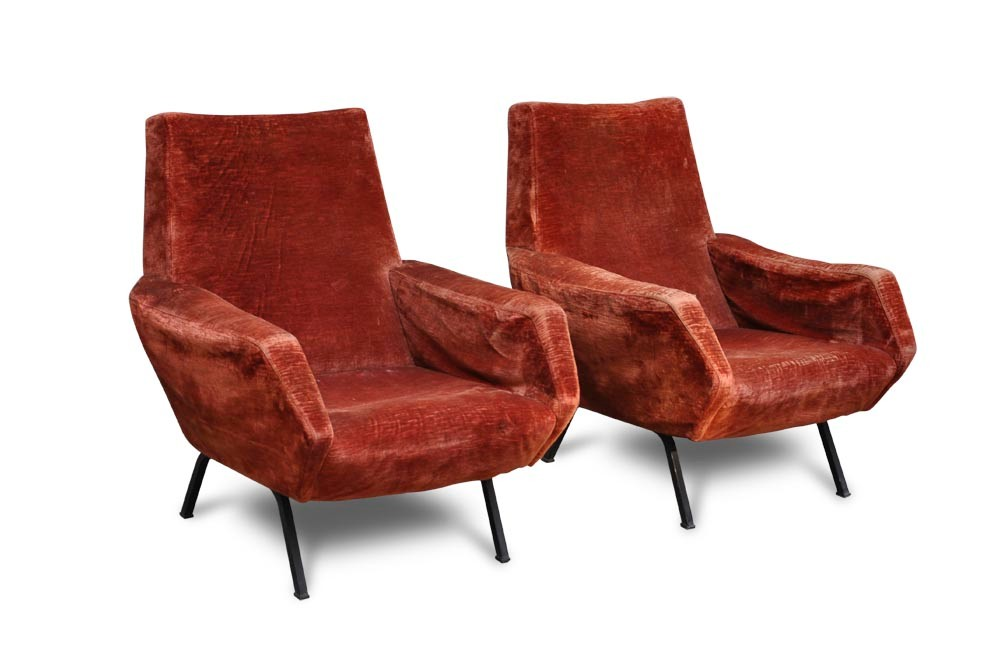 Ecco alcuni nomi famosi del designer e poltrone d'epoca d'epoca: Poltrona Vintage Tra Gio Ponti E Zanuso Italian Vintage Sofa