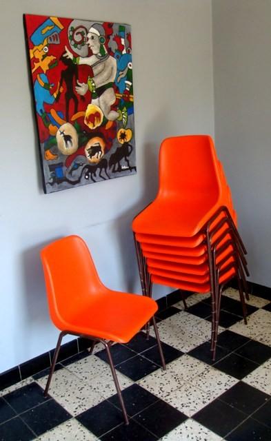 Chaise Coque Plastique Vintage MUROS Design Et Vintage