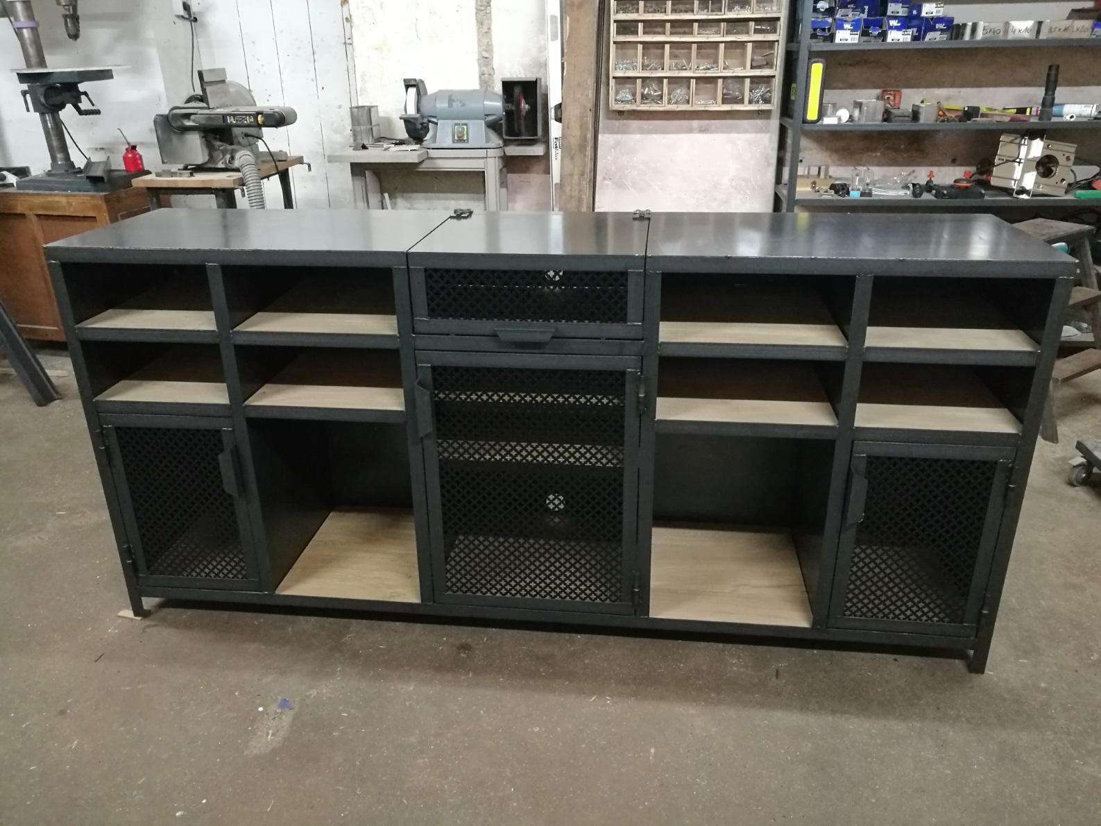 meubles industriels metalik bois