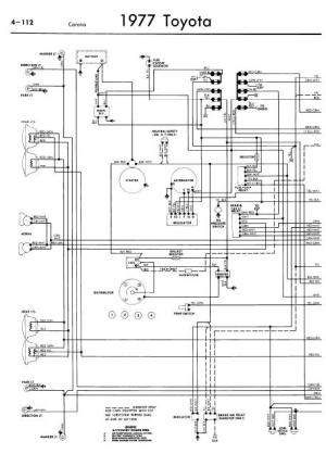 Toyota Corona Service Manuals  Wiring Diagrams