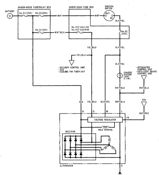 acura legend ewd fuses  relay  car electrical wiring diagram