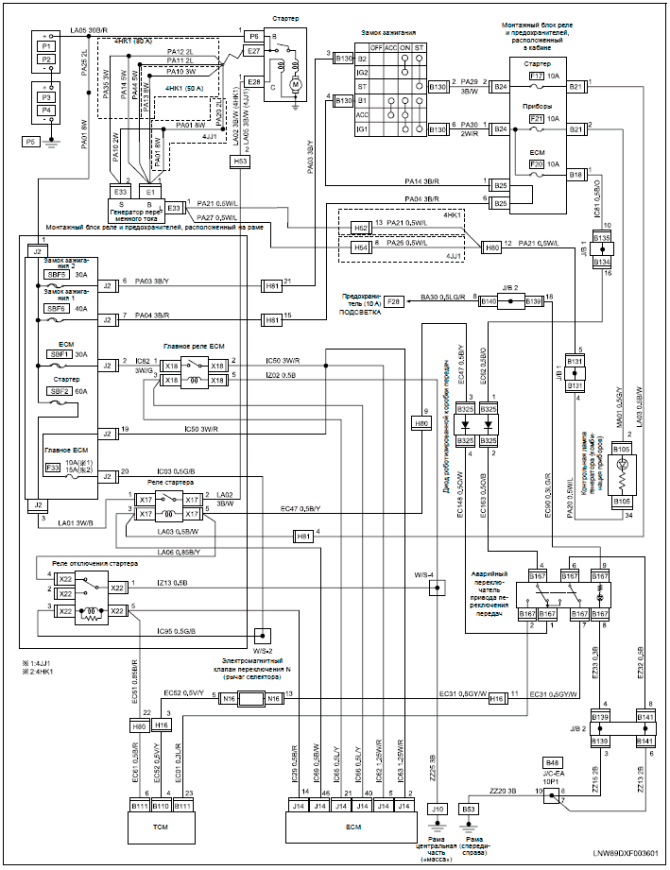 isuzu nseries elf trucks wiring diagrams  car electrical