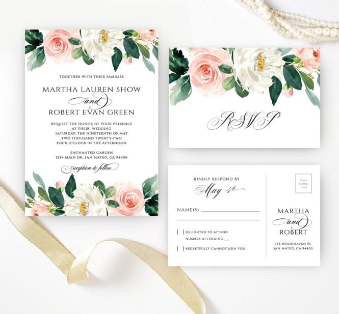 Fl Wedding Invitation Sets