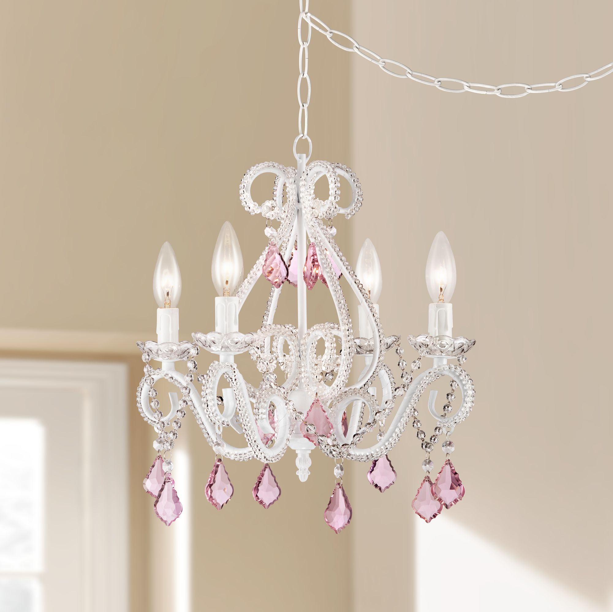 Pink Crystal Chandeliers Lamps Plus