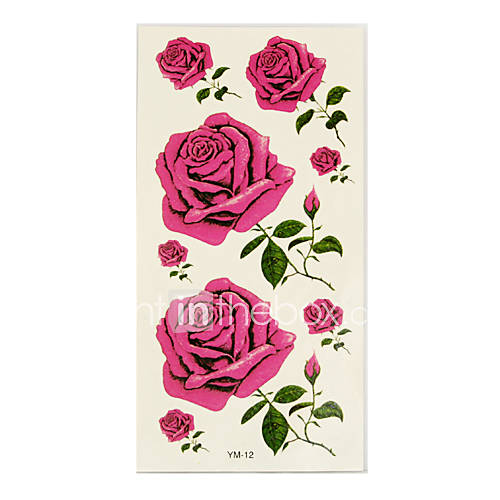 The black rose tattoo usually means death. The white rose tattoo design is a