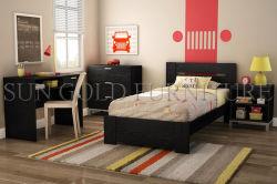 Modern Black Apartment Bedroom Furniture Set For College Student Sz Bf075