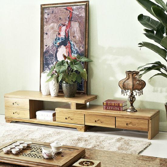 china customize bamboo modern tv table